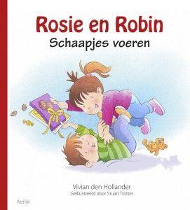 Dit zijn Rosie en Robin. Ze zijn een tweeling. Ze groeiden samen in mama's buik, dicht bij elkaar.  Nu zijn Rosie en Robin al groot, al bijna drie jaar.  Ze spelen meestal samen en soms maken ze ruzie. En mama's buik is allang weer plat. ISBN: 9789402600438