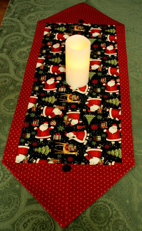 Christmas Santa Claus Holiday Table Runner by MulberryPatchQuilts, $20.00