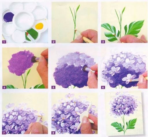 Best 25 hydrangea painting ideas on pinterest art for Step by step acrylic painting flowers for beginners