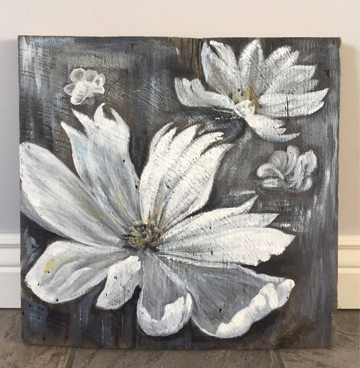 A personal favorite from my Etsy shop https://www.etsy.com/ca/listing/546550268/beautiful-white-flowers-on-barn-wood