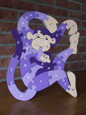 Monkey alphabet puzzle - Scroll Saw Woodworking & Crafts Photo Gallery