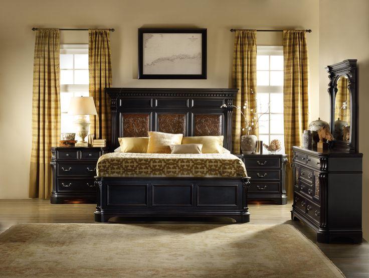 hooker furniture telluride mantle bedroom set in black