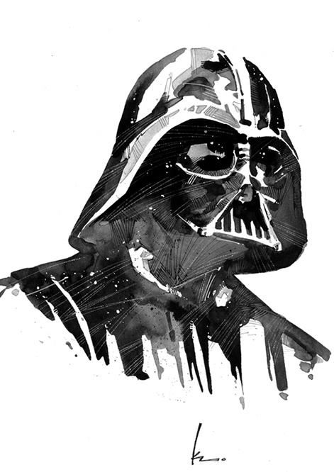 Awesome Darth Vader [ Star Wars ] Painting