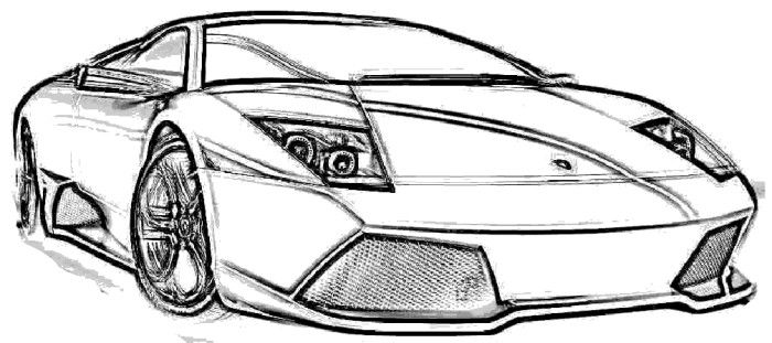 Koenigsegg LP640 Coloring Page