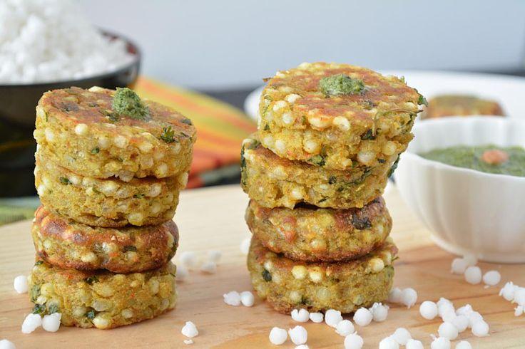 Non Fried Sabudana vada perfect for fasting and vrat recipe.Step by step recipe of Appe pan Sabudana vada.No onion no garlic Navratri food recipe.