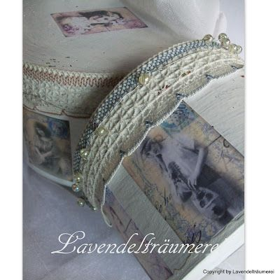 Lavendelträumerei: Alte Hutschachteln im Shabby -Look
