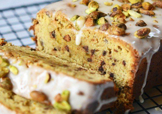 Chocolate Chip Pistachio Pound Cake