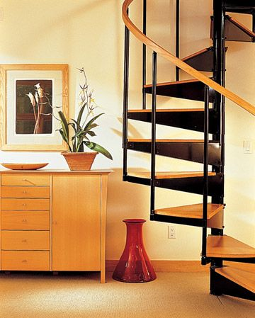 Best Spiral Staircases Basement Stairway And Building Code On 400 x 300