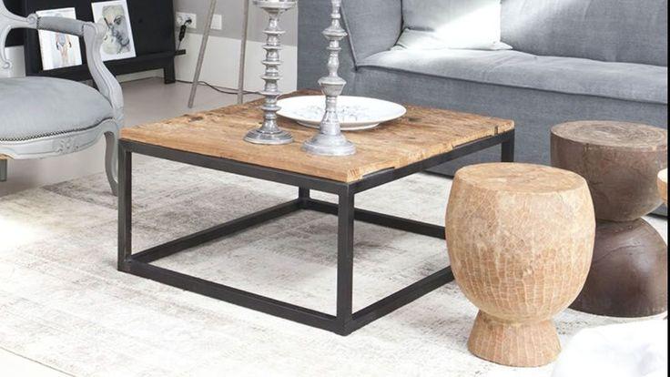 Salontafel metaal/hout