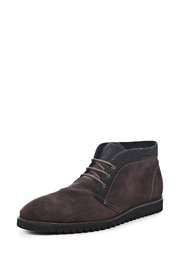 Ботинки Vitacci мужские. Цвет: коричневый. Материал: натуральная замша, текстиль. Сезон: Осень-зима 2013/2014. С бесплатной доставкой и примеркой на Lamoda. http://j.mp/1pDFWgr