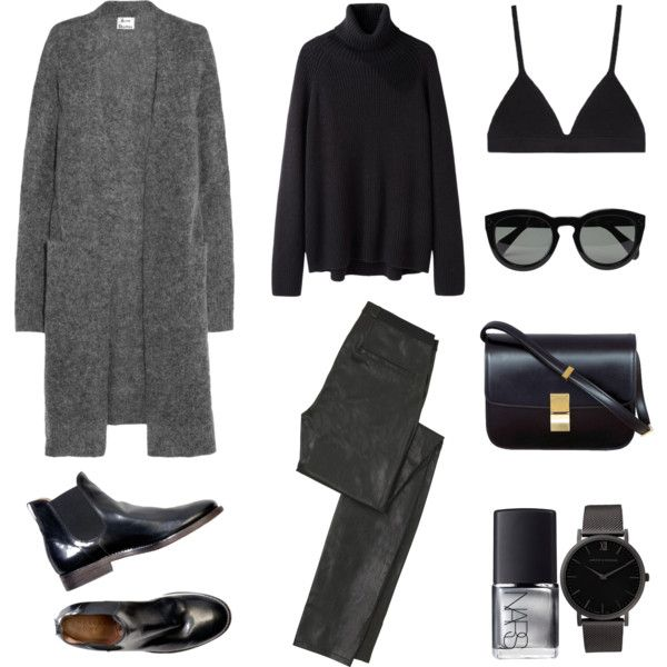 Laid-Back by fashionlandscape on Polyvore featuring Acne Studios, Hope, Helmut Lang, Proenza Schouler, Larsson & Jennings, CÉLINE and NARS Cosmetics