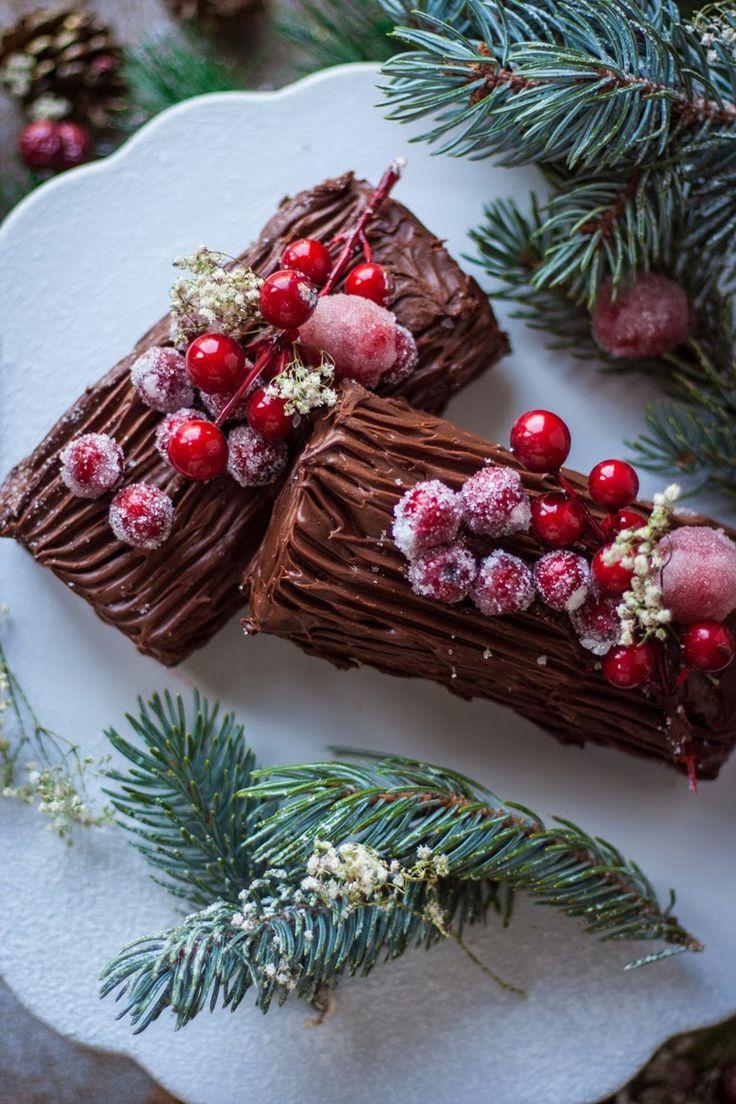 Tronco de navidad christmas cake roll