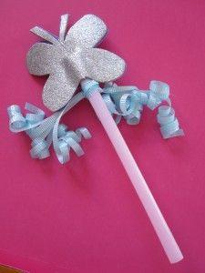 butterfly fairy wand - cute, easy, fun!