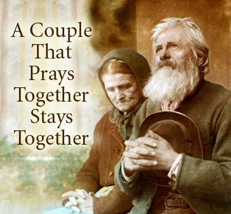 Sorry, does the couple that prays together stays together good