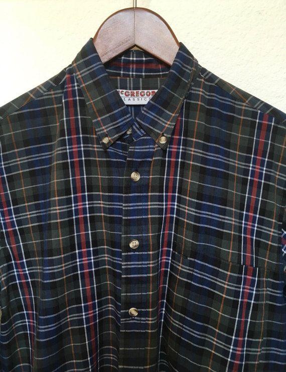 Vintage McGregor plaid shirt medium men's by twinflamesboutique