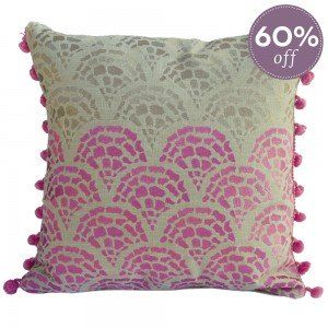Pink Tropicali Fans Cushion