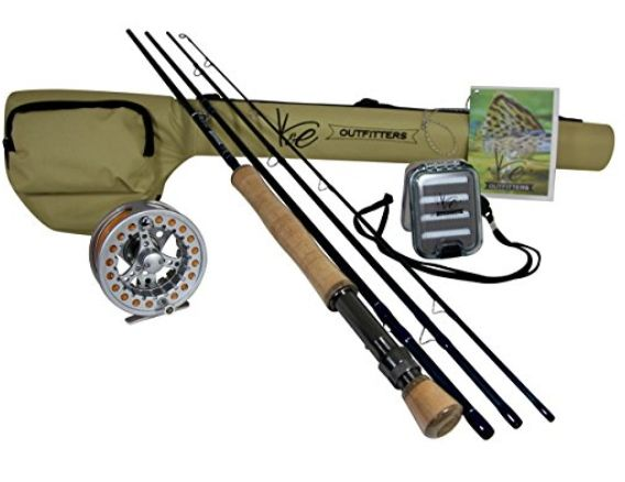 K E Outfitters Drift Series 8wt Fly Fishing Rod And Reel Complete Package Fishing Rod Reel Fly Fishing Rods Fishing Rods And Reels Fly Fishing Rod And Reel