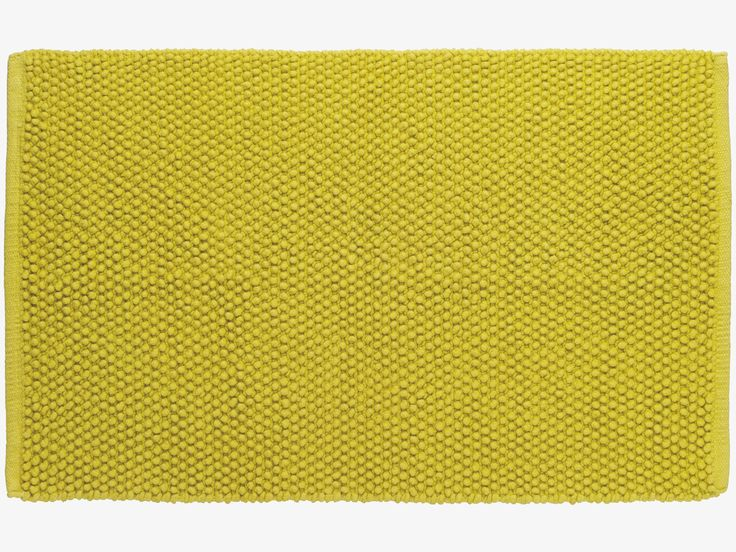 BOBBLE GREENS Cotton Saffron green bath mat - HabitatUK
