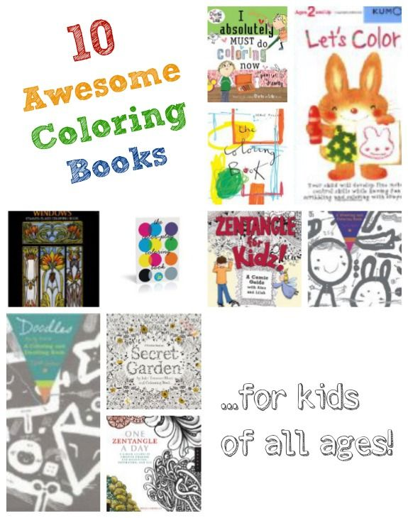 10 Awesome Coloring Books...