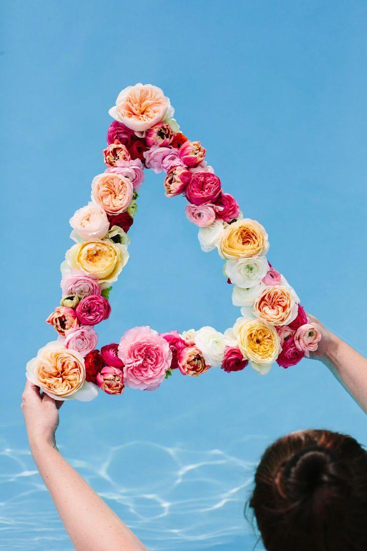DIY: geometric flower wreath