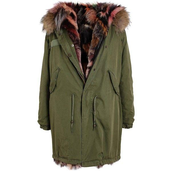 mr mrs furs multi coloured fur lined parka 4360 liked