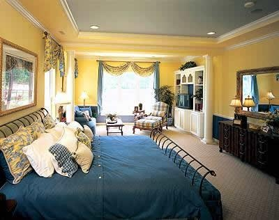 17 Best images about Yellow Blue bedroom ideas on