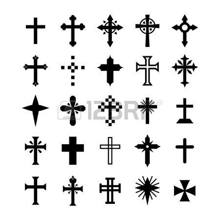 Ensemble Croix Symbole Clip Art Libres De Droits , Vecteurs Et Illustration. Image 43201805.