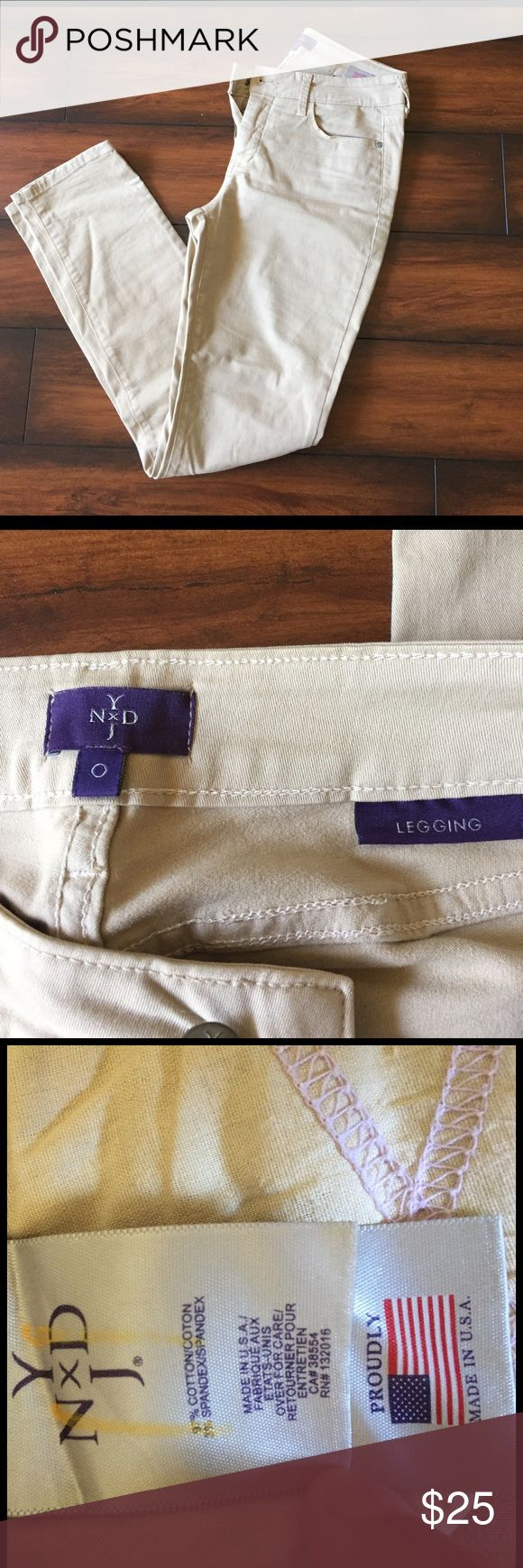 NYDJ skinny jeans tan color NYDJ skinny pants. Worn only a few times. NYDJ Jeans Skinny