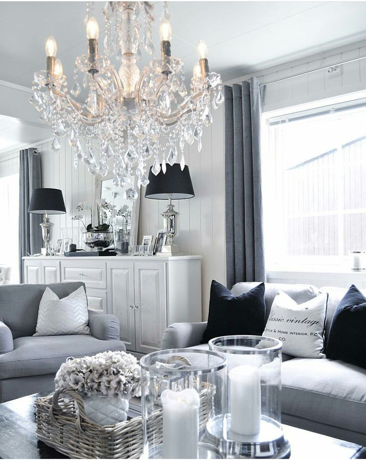 Salon gris et blanc.  White and grey living room. Cosy, cocooning