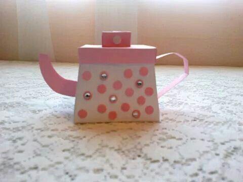 NLW Crafts teapot high tea , kitchen tea or bridal shower invitation