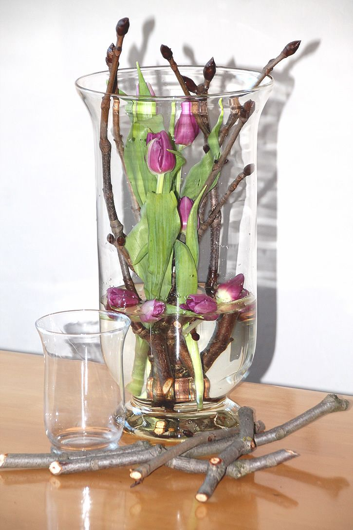 Bildergebnis Fur Tulpen In Glas Fruhlings Dekoration Glasvasen