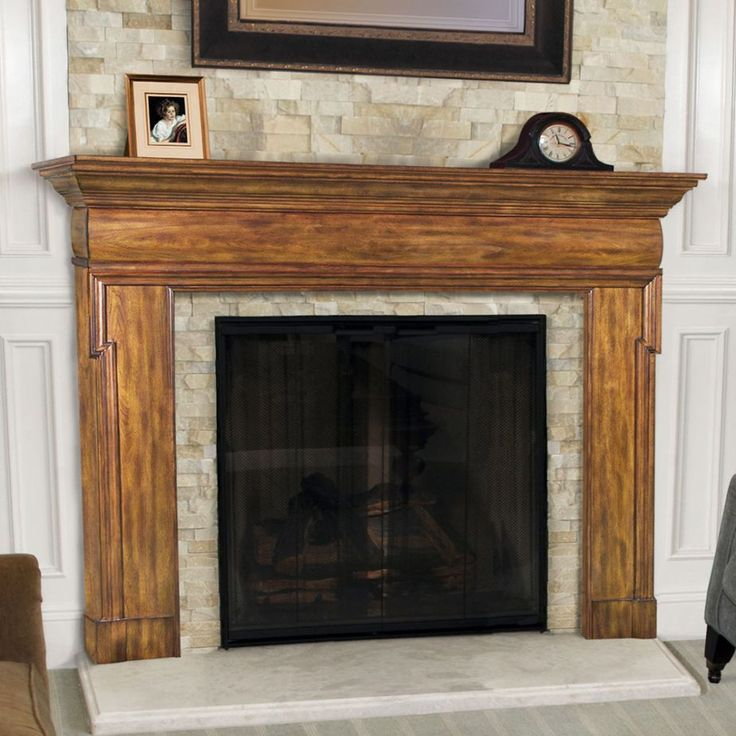 Natural Fireplace Shelf Design Feature Mantel Clock In Black And Oak Wood Fuel Gas Fireplace