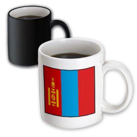 3dRose Photo Of Mongolia Flag Button, Magic Transforming Mug, 11oz
