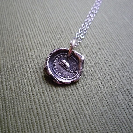 """Wax Seal Necklace - """"Peas in a Pod"""", $60.00"""
