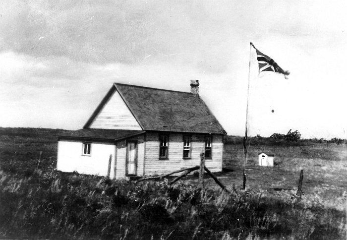 Saskatchewan - School house in the Yorkton area (in the Stowers School District which was later renamed Fair Land School District).date unknown