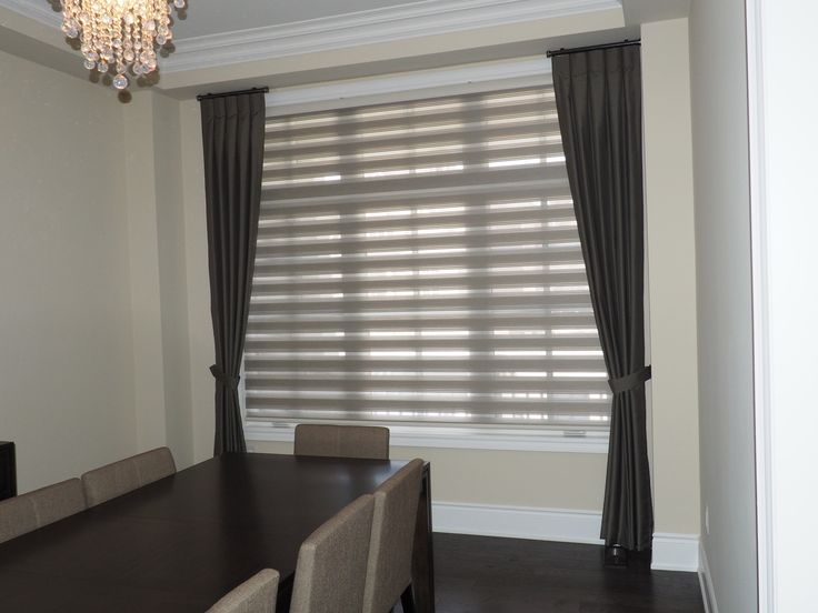 11 best drape side panels with blinds images on pinterest for Roller pleat curtains