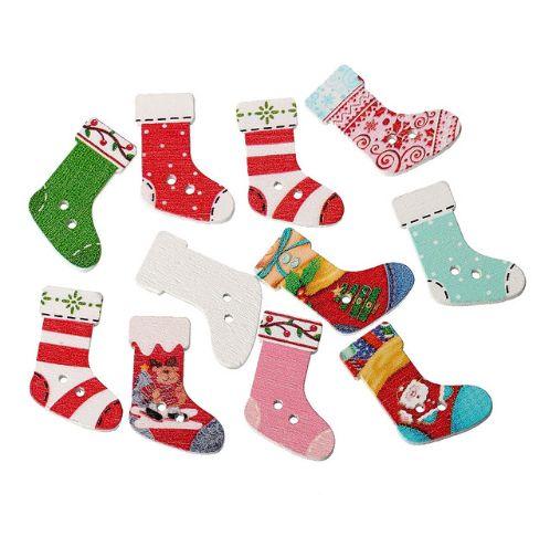 Пуговицы новогодние носочки. Нашла здесь - http://ali.pub/x63ch