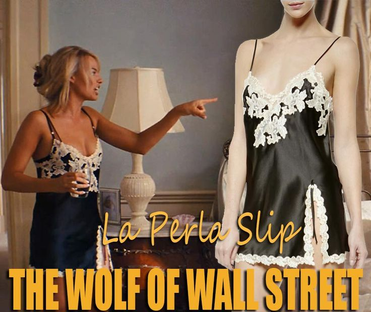 The beautiful 'La Perla Maison Classique Iconic Slip' is worn by Margot Robbie in 'The Wolf Of Wall Street (2013)'. #hollywoodfashion #celebrityfashion #margotrobbie #wolfofwallstreet #lingerie #whatshewore