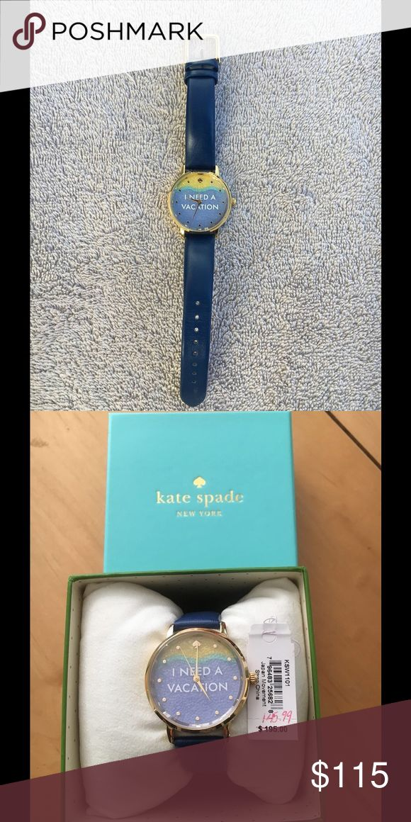 "💰LIMTED TIME SALE"" Kate spade watch 💰LIMITED TIME SALE💰Kate spade ""I need a vacation"" with navy band. No bundling, no other discounts. kate spade Accessories Watches"