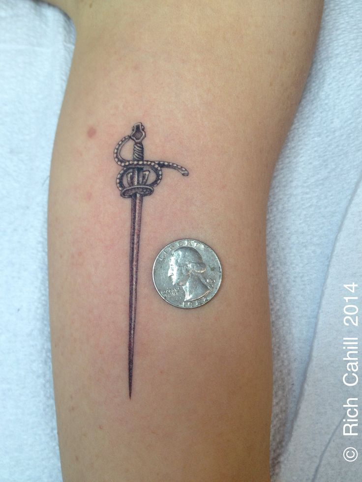 /// rich cahill // nyadorned // micro saber tattoo / mini sword tattoo / tiny tattoo
