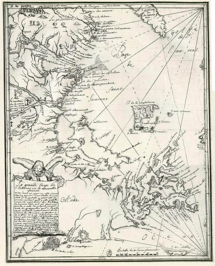 Carte du Père Emmanuel Jumeau, missionnaire récollet, 1685