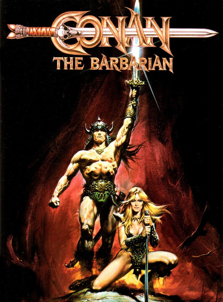 Conan THE Barbarian Movie Poster Rare Arnold Schwarzenegger | eBay