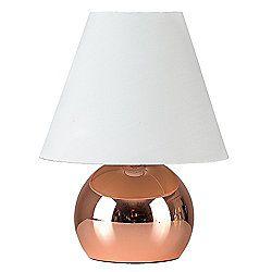 Mojo Touch Table Lamp, Copper & Cream