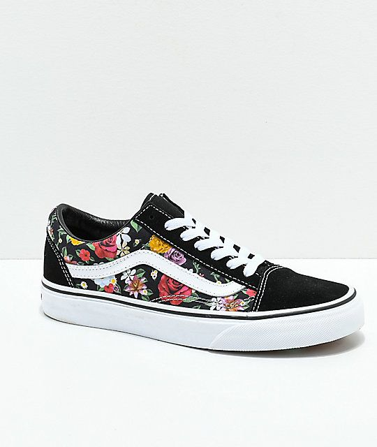 785c96cfcd73 Vans Old Skool Digi Floral Skate Shoes | What a Girl Wants ...