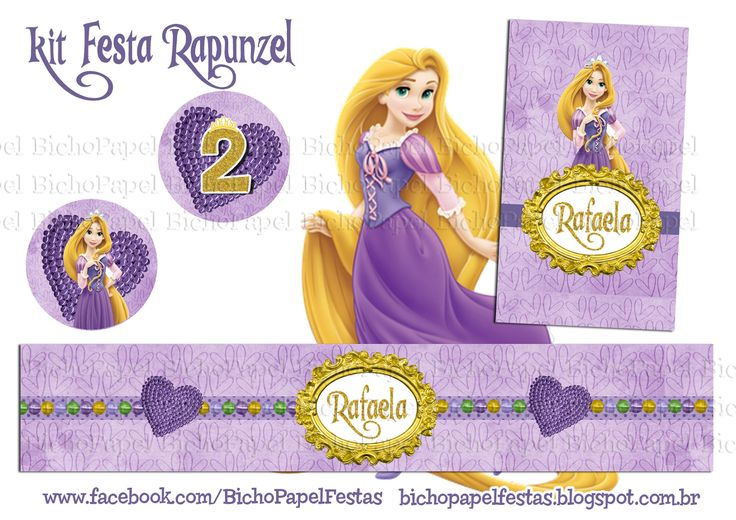 kit festa rapunzel enrolados