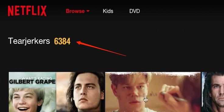 How to find Netflix's secret categories.  VIDEO: So you can sort through your favorite tearjerkers.