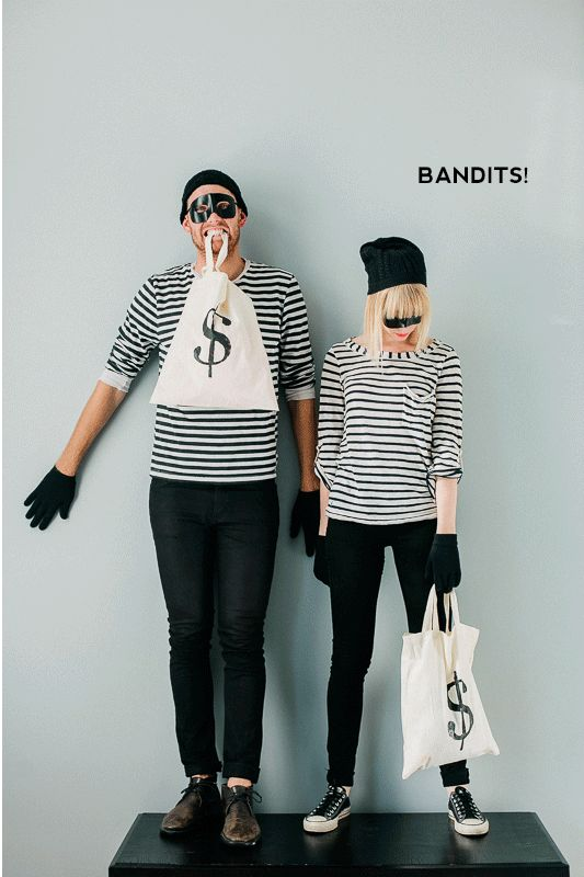 DIY Halloween Costume: Bandit! Gotta be one of the easiest ones out there, and makes for a really cute couples costume. #halloween #halloweencostume #diycostume #diy