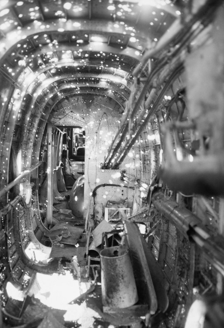 """""""Interior of the fuselage of Handley Page Halifax B Mark"""