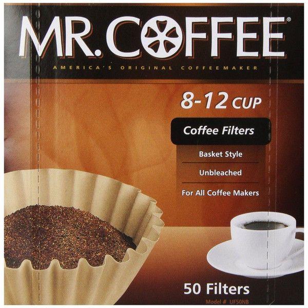 ミスターコーヒー [Mr. Coffee] バスケットスタイル コーヒーフィルター 12カップ 高品質 ナチュラルブラウン ペーパー 50枚入り Made In USA