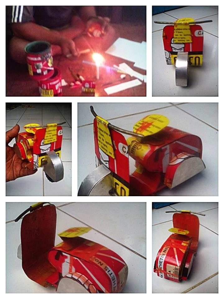 Kreasi Kaleng Kreatif EMCO kiriman Hendra Yana   Miniatur vespa ini saya buat karena saya sangat menyukai motor vespa. terinspirasi dari motor kesayangan,maka saya buatlah vespa mini ini dari kaleng cat EMCO. jadilah Miniatur Vespa EMCO kesayangan saya. #KalengKreatifEMCO